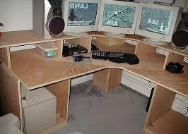 DIY Computer Desk Ideas : DIY Multi Level Computer Corner Desk
