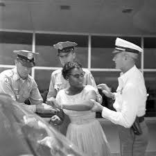 Civil rights activist Priscilla Stephens, sister of Patricia Stephens, a  leading African-American civil rights activist in the United States, being  arrested in Tallahassee, Florida. Date: June 16, 1961. [600 x 600] :  HistoryPorn