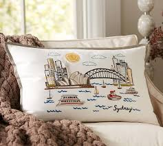 sydney embroidered pillow cover pottery barn