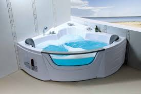 ... Bathtubs Idea, Jet Tubs For Two Jacuzzi Whirlpool Tubs Bathroom  Interior White Fiberglass Two Person ...