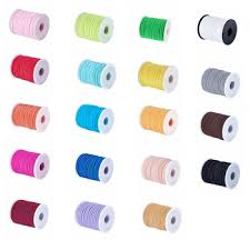 5x3mm Soft Nylon Cord Flat Elastic Thread Jewelry Findings for DIY ...