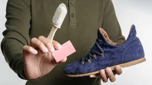 clean blue suede shoes
