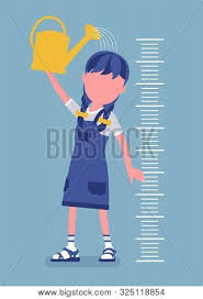 Girl Child Height Vector Photo Free Trial Bigstock