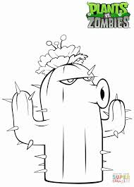Small Picture Plants vs Zombies Cactus coloring page Free Printable Coloring