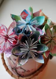 How To Make Flower With Paper Folding Easy Origami Flower Tutorial Hgtv