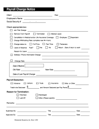 Payroll Change Form Templates - Fillable & Printable Samples For Pdf ...