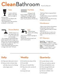 bathroom cleaning schedule. Clean Bathroom Checklist! Perfect For You A-type Personalities! Cleaning Schedule N