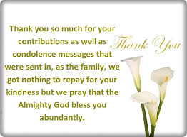 Thank You Sympathy Cards Thank You For Your Condolences Quotes And Notes Words Of