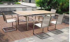 metal mesh patio furniture. Stainless Steel Outdoor Furniture Meja Kayu Jati Dan Mesh Kursi Metal Patio