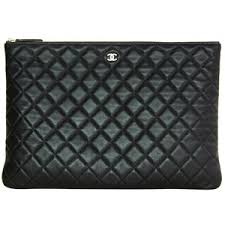 CHANEL Black Quilted Leather Clutch with Zipper - Polyvore & CHANEL Black Quilted Leather Clutch with Zipper Adamdwight.com