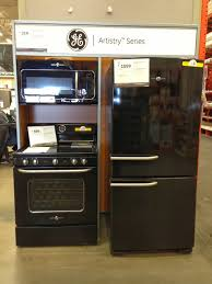 ge retro appliances. Ge Artistry Series Black Kitchen Appliance Bundle With Wall Microwave And Freestanding Range Also Fridge Retro Appliances E