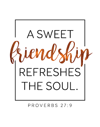 A Sweet Friendship Refreshes The Soul Proverbs 4040 It's A Gorgeous Proverb Friend