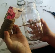 Mason Jars Decorated With Twine Quick DIY Mason Jars And Twine Fall Centerpieces 26