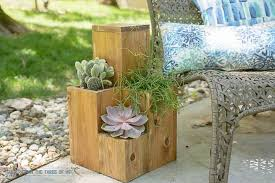 DIY Planter Pot table combo This and many more DIY planter box ideas