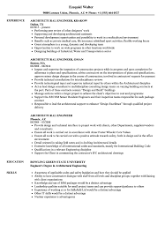 Architectural Engineer Sample Resume Architectural Engineer Resume Samples Velvet Jobs 12