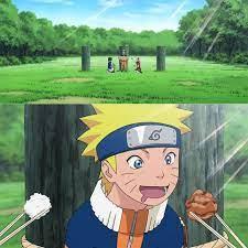 Hội Những Người Thích Truyện Tranh Naruto - Hình ảnh Sasuke chia phần thức  ăn cho Naruto nhưng chỉ cho một chút xíu cơm trắng, còn thức ăn thì để ăn  một