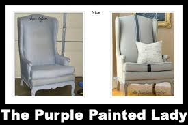 chalk paint furniture before and afterUsing Chalk Paint to Paint Your Couch or Wing Back Chair  The