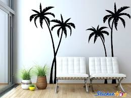 tropical palm trees silhouette wall decal tree vinyl family stickers flipkart art