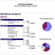 Break Even Template Excel Break Even Analysis Template Image Download