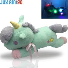 Us 18 92 New Luminous Stuffed Unicorn Toy Led Light Up Plush Doll Glow Pillow Auto Color Rotation Gift 55cm 21 6 Inch Birthday Gfit In Stuffed