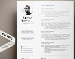 Minimalist Resume Template Word Professional Resume Cv Template Executive Resume With Photo Marketing Cv Software Developer Engineer