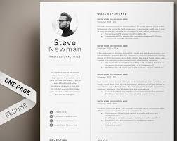 Minimalist Resume Template Word Professional Resume Cv Template Executive Resume With Photo Marketing Cv Software Developer Engineer