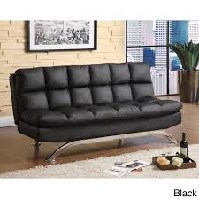 Furniture of America Pascoe Bicast Leather Sofa Futon Free