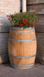whiskey barrel planter ideas for a