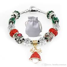 designer bracelets fit pandora young girl red crystal glass square beads bangle mushroom pendant silver chain jewelry kids p110 silver earrings