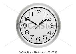 office wall clock. Clock Isolated Stock Photo Office Wall
