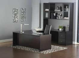 premium espresso u shaped executive desk with hutch mobile file