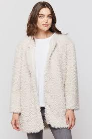 Kell Ivory Long Sleeve Fuzzy Jacket | Free Shipping $100+