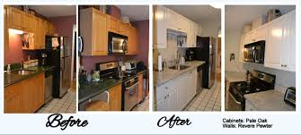 Restoring Kitchen Cabinets Refinishing Kitchen Cabinets Before And After Lighthouse Garage