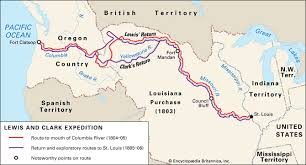 lewis and clark expedition history facts map com route of the lewis and clark expedition 1804 06