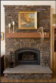 beautiful stacked stone fireplace surround on stacked