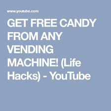 How To Get Free Candy From Vending Machine Adorable GET FREE CANDY FROM ANY VENDING MACHINE Life Hacks YouTube