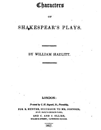 Characters Of Shakespears Plays Wikipedia