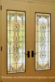 2 leaded glass interior doors