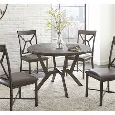 steve silver alamo round dining table in distressed gray