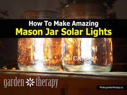 Homemade Solar Lights How To Make Mason Jar Solar Lights Easy Diy Project