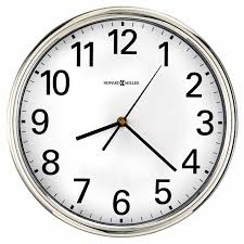 office wall clocks. 625561 Polished Silver-tone Finished Case Round Wall Clock Office Clocks N