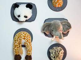 how to mount stuffed animals as wall