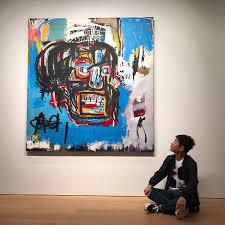 yusaku of maezawa next to his painting basquiat for 110 500 000