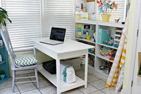 Shelves Above Remodelaholic Remodelaholic Small Desk Turned Large Workspace