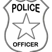 Small Picture Police Badge Coloring Page Coloring Pages Ideas Reviews