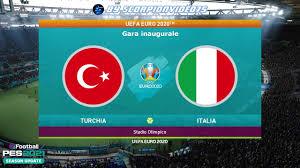 PES 2021 • Turchia vs Italia • EURO 2020, Fase a Gironi • gara inaugurale  all'Olimpico di Roma - YouTube