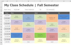 Back To School Transform Class Schedule To Pivottable