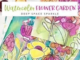 draw a watercolor flower garden