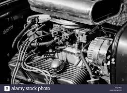 Engine Parts Design Vintage Car Featuring Muscle Engine Parts Stock Photo