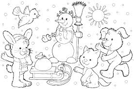 Winter Coloring Pages For Preschool Activities Color Worksheets ...